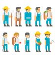 Flat design farmers set vector image vector image