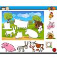 matching task for preschoolers vector image vector image