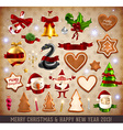 Christmas Ornaments Collection vector image