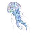 jellyfish on white background vector image