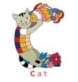 C cat vector image