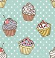 Cakes pattern retro vector image