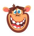 Cartoon monkey head vector image