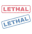 lethal textile stamps vector image