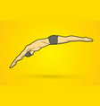 man jumping diving into swimming pool vector image