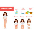 Menstrual pain period treatment concept vector image