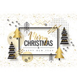 merry christmas and happy new year trendy vector image