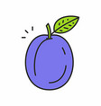 plum icon vector image