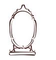 Sketched mirror vector image