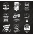 Thank You Chalkboard Signs vector image
