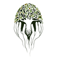 Tree in hands vector image