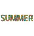 word summer decorative zentangle object vector image