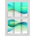 Wave aqua brochure vector image