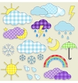 weather stickers vector image vector image