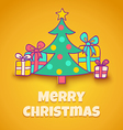 Christmas tree yellow vector image