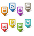 Colorful set pointers for transport vector image