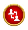 Exchange information between two people icon vector image