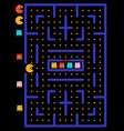 game maze with ghosts vector image