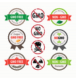 GMO Free stamps and labels set vector image