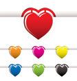 heart book mark vector image