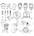 icons set for barber shop and beauty salon vector image