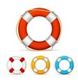 Life Buoy Color Set vector image