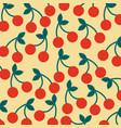seamless pattern fruit fresh cherry image vector image