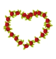 rose heart isolated icon vector image