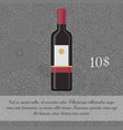 wine beverage card template with price vector image