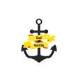 coast guard day anchor with ribbon vector image