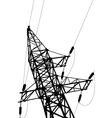 high voltage power lines and pylon vector image