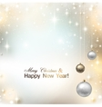 Elegant shiny Christmas background with place for vector image vector image