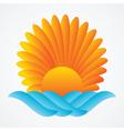 abstract sun sea vector image