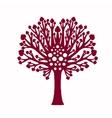 Decorative family tree plant vector image