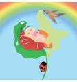 thumbelina sleeping vector image