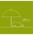 Icon of the car vector image vector image