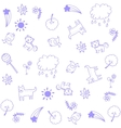 Animal for child doodle art vector image
