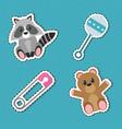 baby shower icon set design vector image
