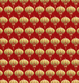 Chinese seamless pattern red lantern lamp gold vector image