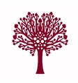 Decorative family tree plant vector image