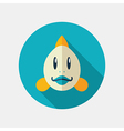 Fish flat icon Animal head vector image