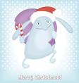 Funny Christmas bunny vector image