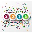 Happy new Year 2016 celebration vector image