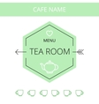 Tea room business card template vector image