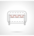 Traffic barrier flat line icon vector image