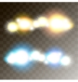 two light banners vector image
