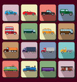 vehicles flat icons vector image