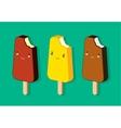 Vintage ice cream poster vector image
