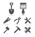 Working tool Icons on white elements vector image