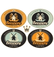 set of labels for beer vector image